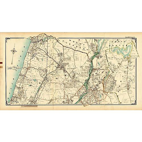 Map of Tarrytown & Greenburgh, NY, 1908