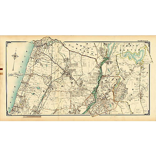 Map of Tarrytown & Greenburgh, NY, 1908