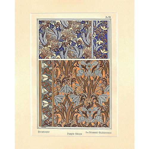 Art Nouveau Perce Neige, 1896