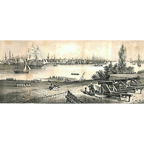 View of New York City in 1816