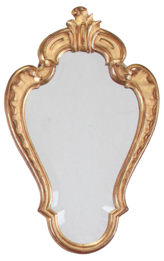 Louis XV-Style Gilded Mirror