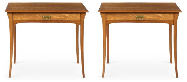French Side Tables, Pair
