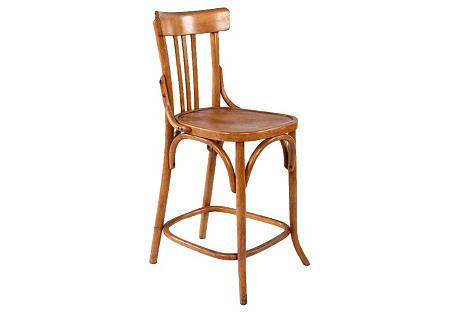1920s Bentwood Bar Chair by Bauman
