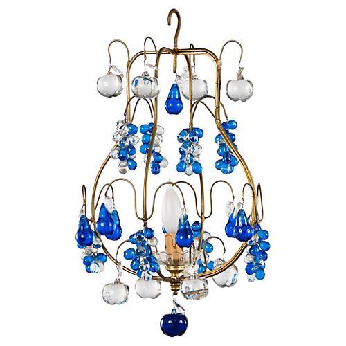 Blue Murano Glass Chandelier