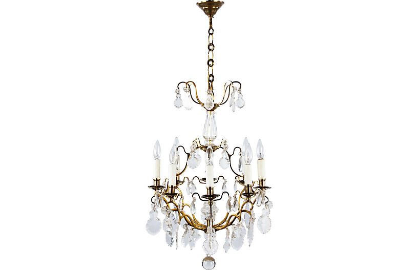 lbl.alttext.altThumbnailImage ? - Antique French Crystal Chandelier - Vintage Lighting - Vintage