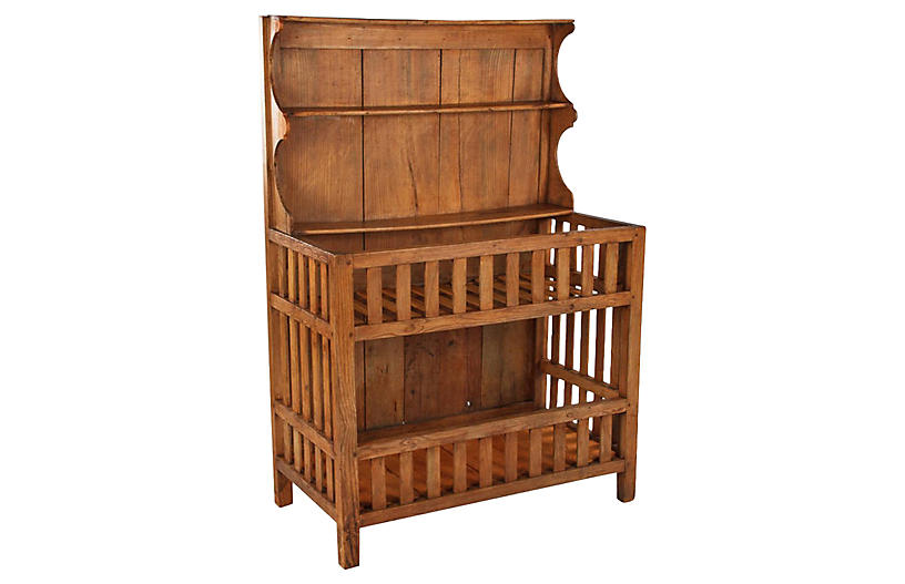 French Country Egouttoir Cabinet, C.1900