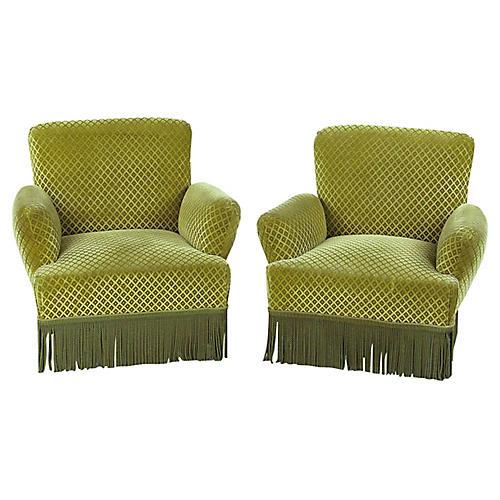 Napoleon-Style Armchairs, S/2