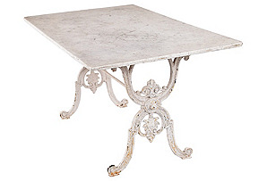 French Painted Iron & Marble Table*
