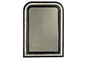 Antique Louis Philippe Silvered Mirror