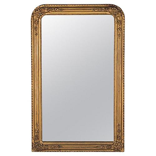 French Napoleon III Gilded Mirror, 1870s