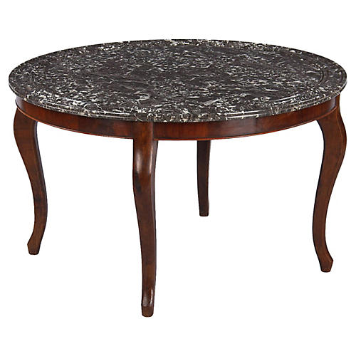 Antique Marble-Top Coffee Table