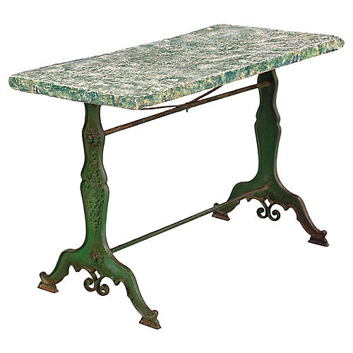 French Concrete Top Garden Table, C.1880