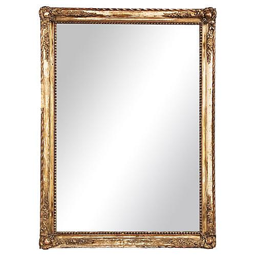 Napoleon III Distressed Gilt Mirror