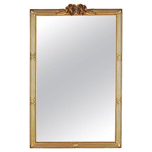 1930s Louis XVI-Style Giltwood Mirror