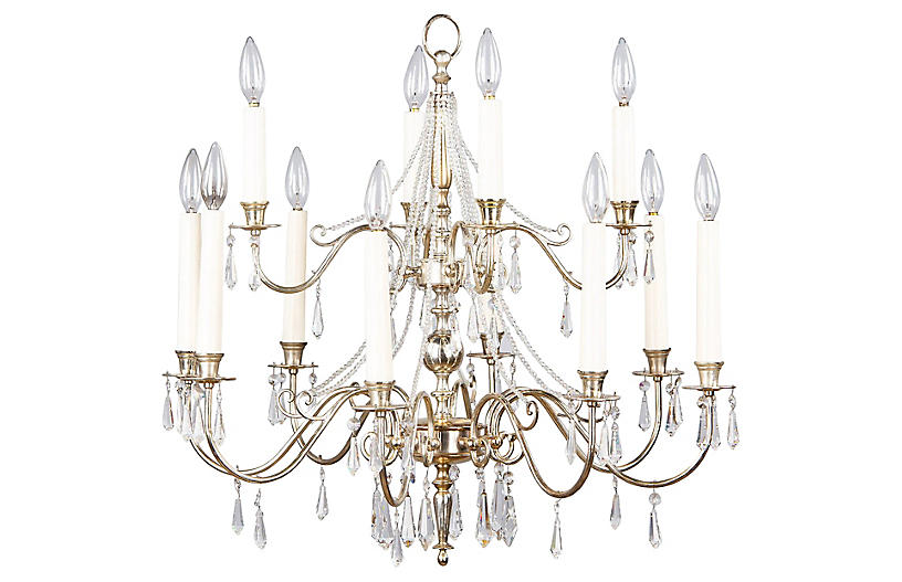 French Mid-Century Chandelier