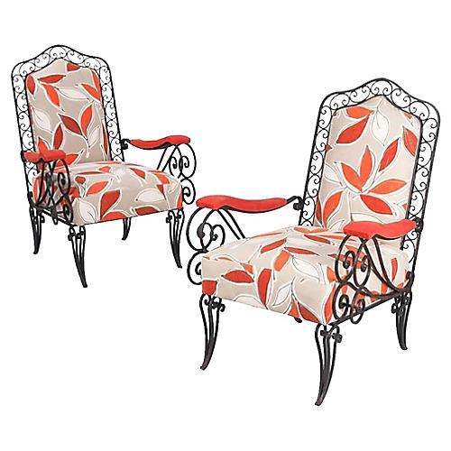 Pair of French 1940s Armchairs