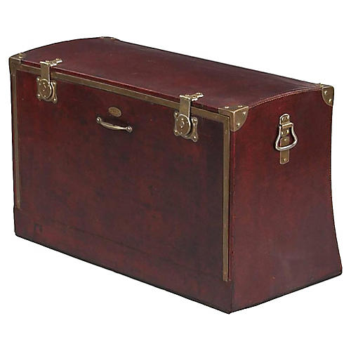 Antique French Automobile Trunk, 1900s