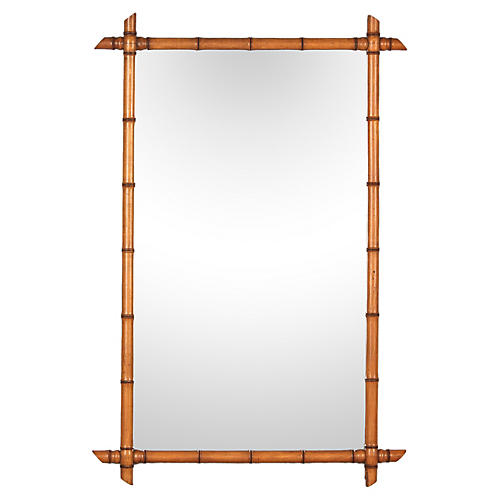 French Colonial-Style Bamboo Mirror