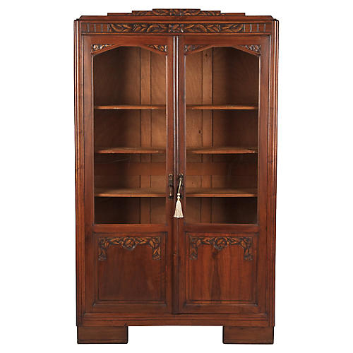 1930s French Art Deco Bookcase