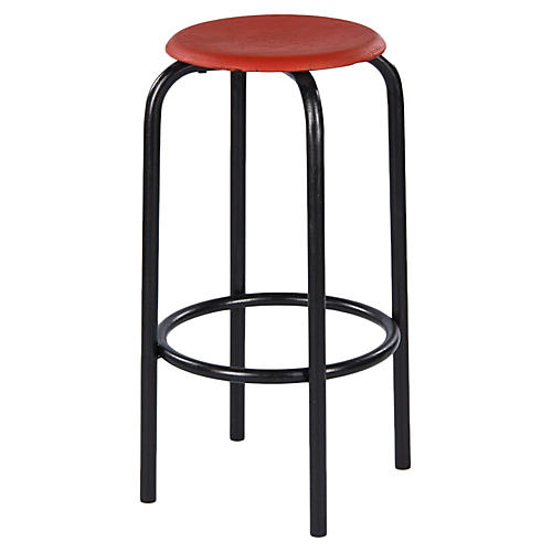 1950s French Industrial Stool
