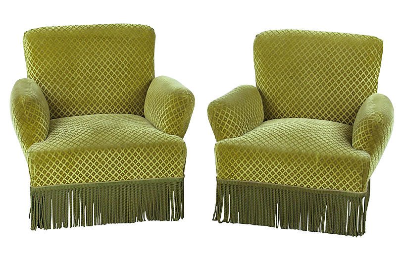 Napoleon III-Style Armchairs, Pair