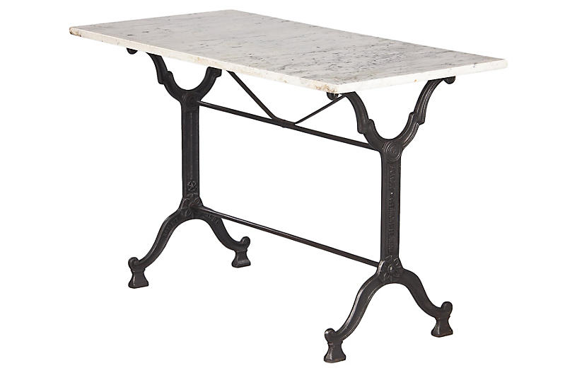 French Bistro Table, 1920s