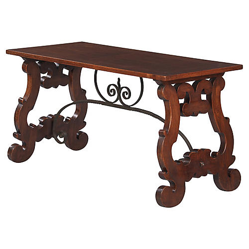 Spanish Oak Console Table