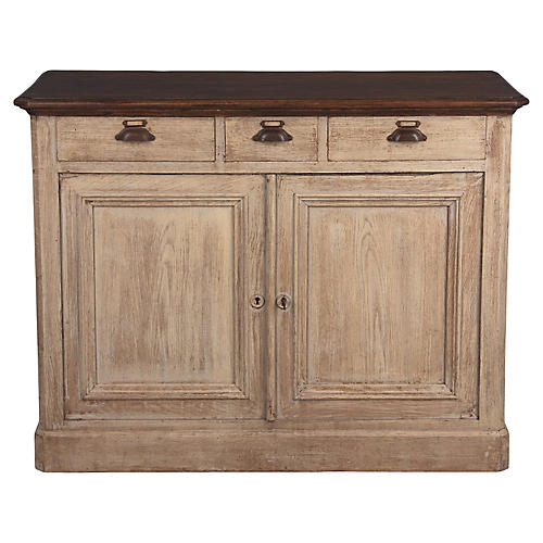 French Commercial Painted Oak Buffet