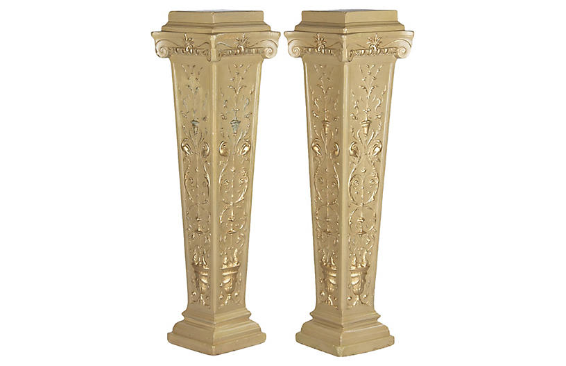 Pair of French Neo-Classical Pedestals