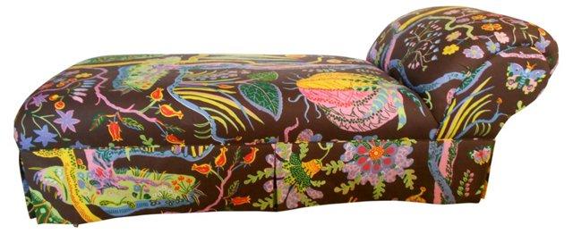 Chaise w/ Josef Frank Fabric