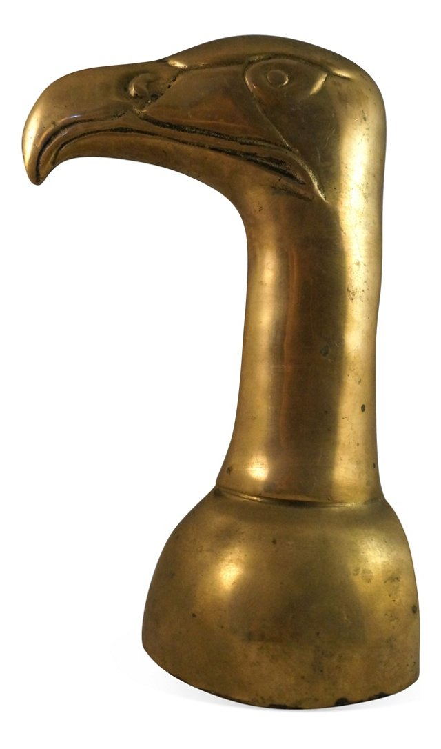 Brass Falcon Head