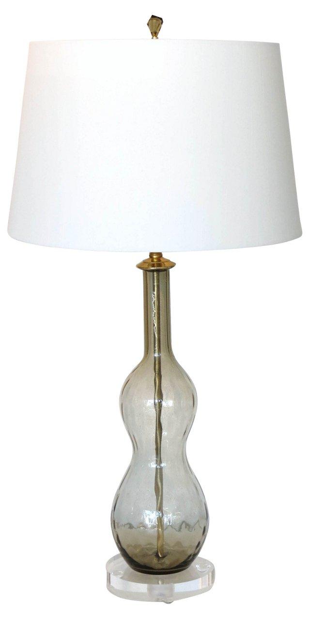 Italian Mocha Glass Lamp