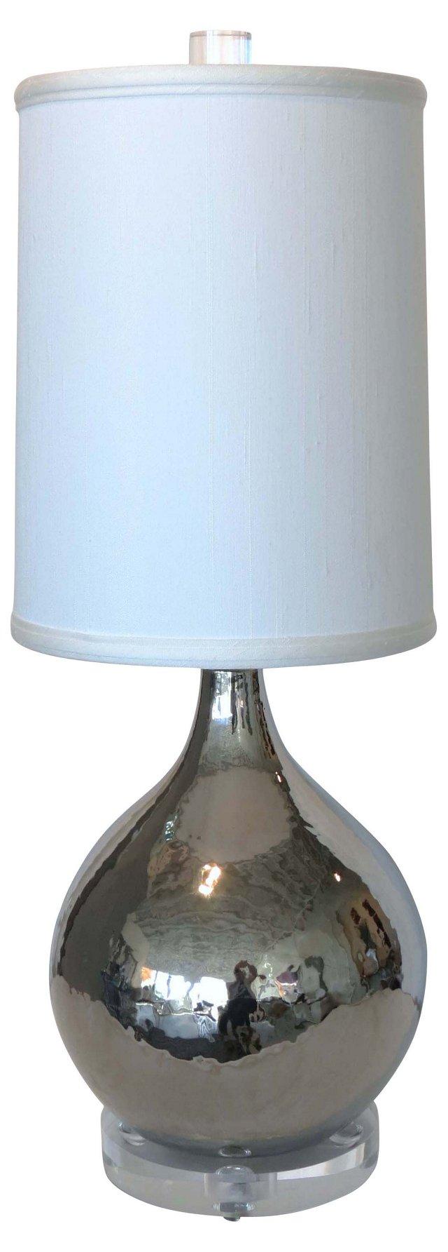 Mercury Glazed Ceramic Lamp