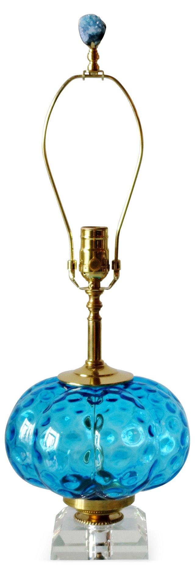Azure Blue Italian Lamp