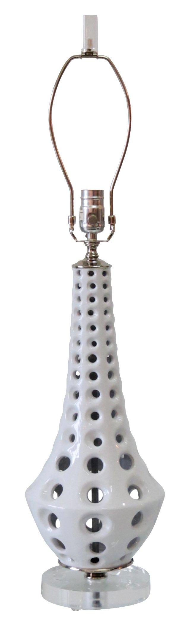 Reticulated Ceramic  Lamp