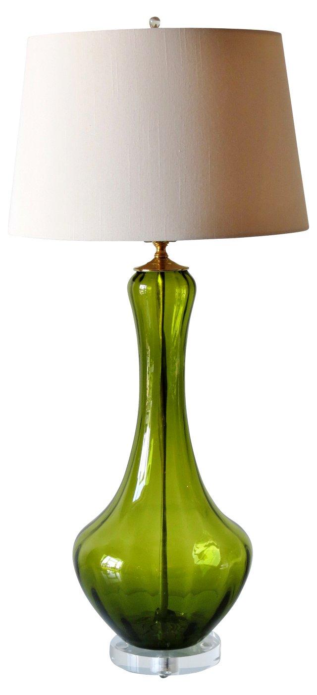 Green Murano Lamp