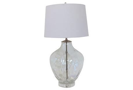 Italian Clear Glass Lamp