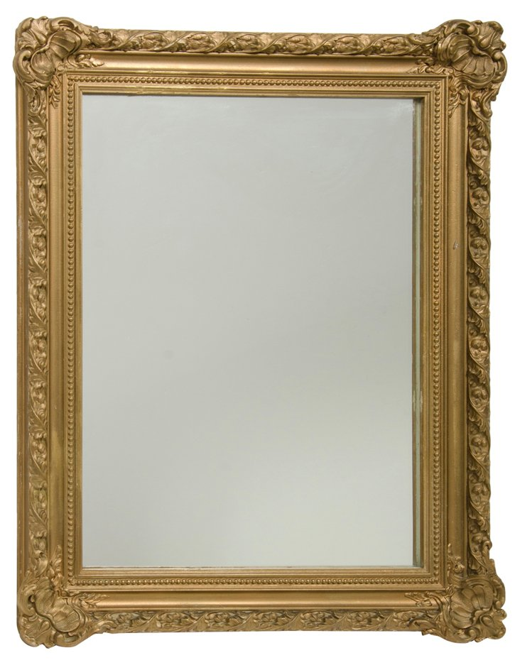 Gilded Shell Wall Mirror