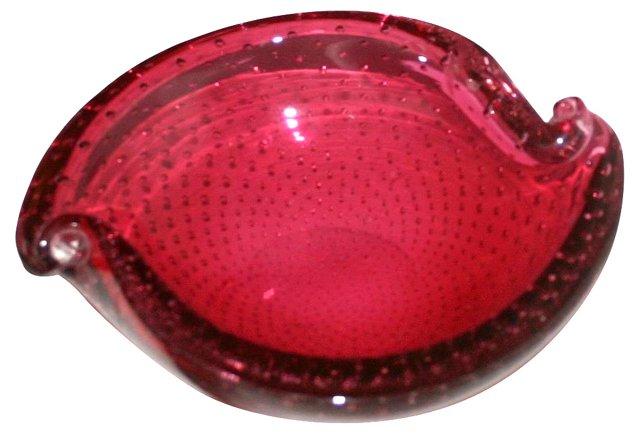 Cranberry Pink Murano Dish