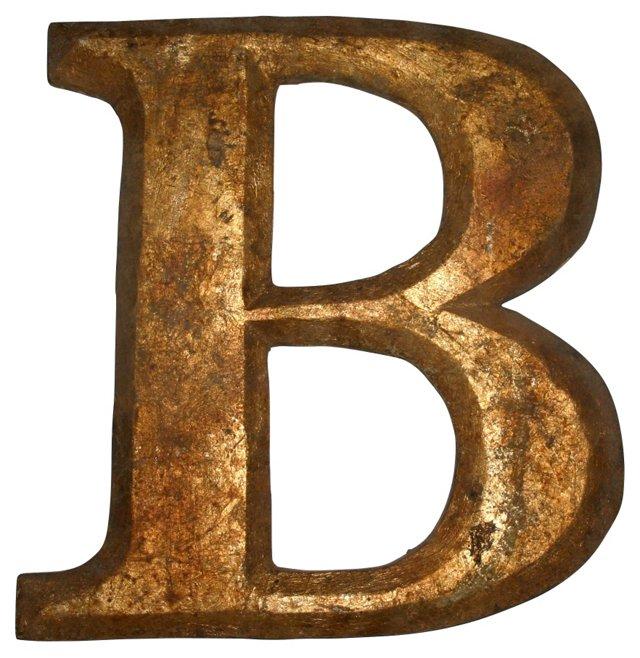 Gold Signage Letter B