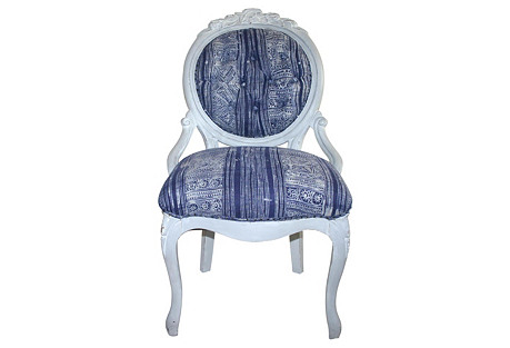 Tufted Victorian Side  Chair
