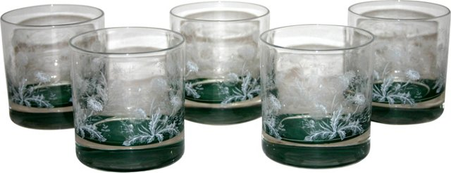 Dandelion Lowball Glasses, Set of 5