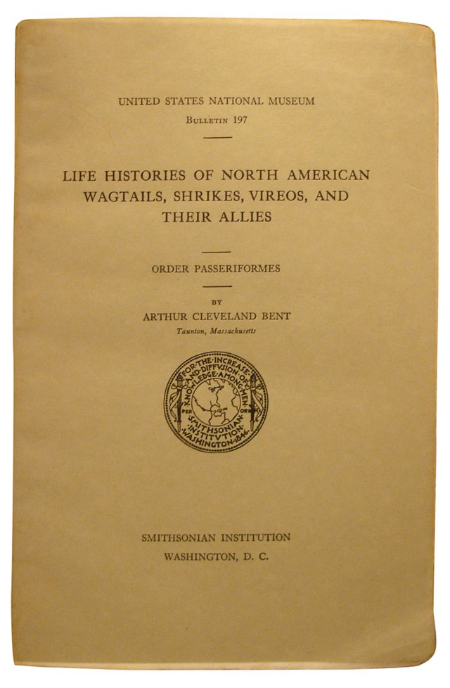 Life Histories of  North American Birds