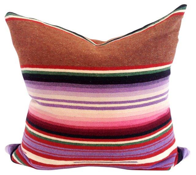 Brown & Purple Saltillo Pillow