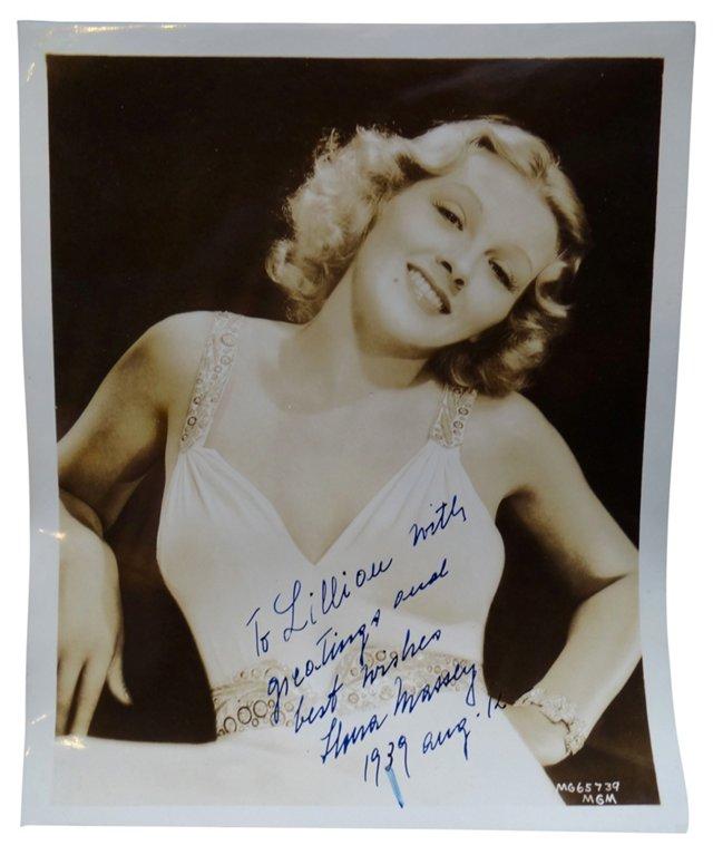 Signed Portrait of Ilona Massey