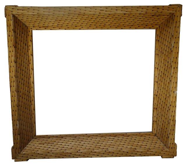 Folk Art Matchstick Frame