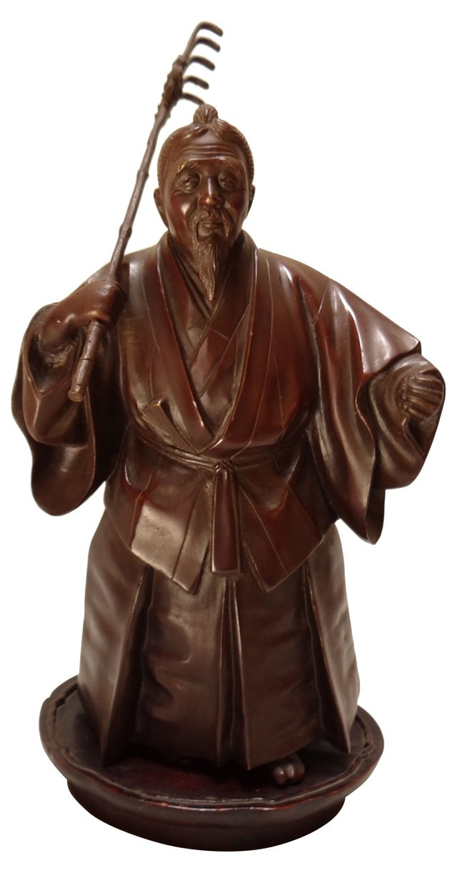 Japanese Bronze on Stand
