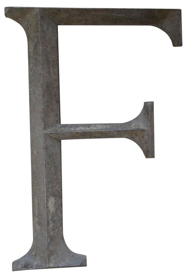 Metal Letter F