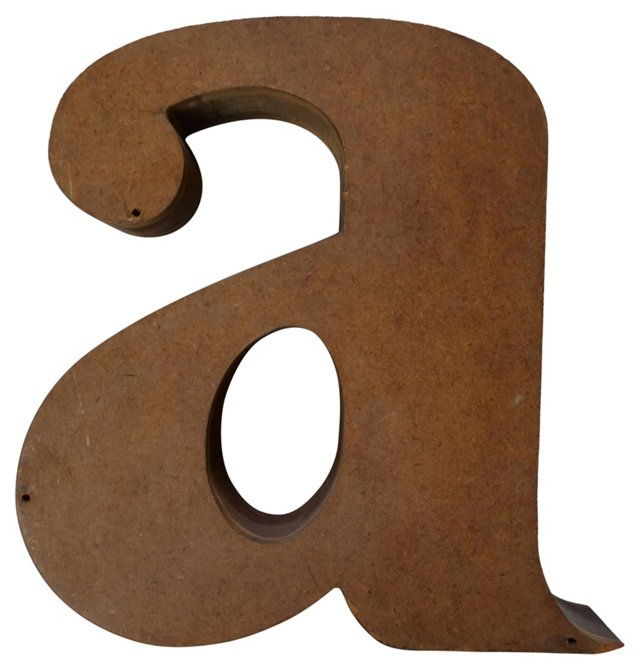 Wooden Lowercase Letter A