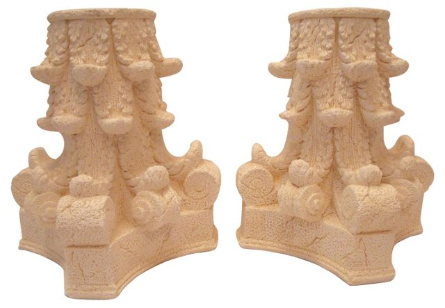 Corinthian Capital Bookends, Pair